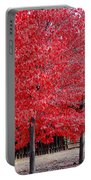 Red Tree Line Portable Battery Charger