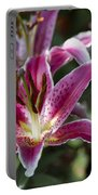 Red Tropical Flowers Portable Battery Charger
