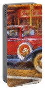 Red Truck Photo Art Portable Battery Charger