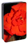Red Tuberous Begonia Flower Portable Battery Charger