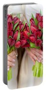 Red Tulip Weddding Bouquets Portable Battery Charger