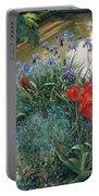 Red Tulips And Geese  Portable Battery Charger