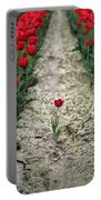 Red Tulips Portable Battery Charger by Jim Corwin