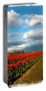 Red Tulips Of Skagit Valley Portable Battery Charger