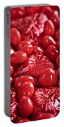Red Valentine Candy Hearts Portable Battery Charger