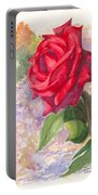 Red Valentine Rose Portable Battery Charger
