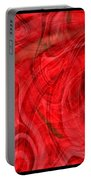 Red Veil Abstract Art Portable Battery Charger