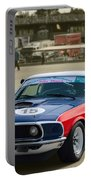 Red White And Blue Mustang Portable Battery Charger