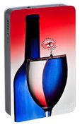 Red White And Blue Reflections And Refractions Portable Battery Charger
