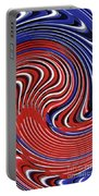 Red White And Blue Portable Battery Charger by Sarah Loft