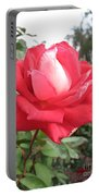 Red-white Rose Portable Battery Charger