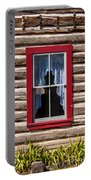 Red Window Log Cabin - Idaho Portable Battery Charger