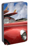 Red Woodie Portable Battery Charger