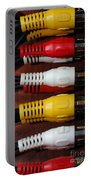 Red Yellow And White Cables Portable Battery Charger