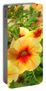 Red Yellow Morning Glories Portable Battery Charger
