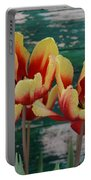 Red Yellow Tulips Portable Battery Charger