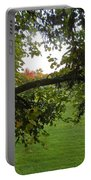 Redbud Tree In Autumn Portable Battery Charger