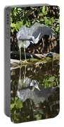 Reflected Great Blue Heron Portable Battery Charger