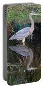Reflecting Great Blue Heron Portable Battery Charger