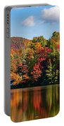 Reflection Of Autumn Trees In A Pond Portable Battery Charger