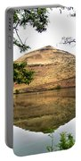 Reflection Of Butte Across From Lepage Rv Park Into Columbia River-oregon Portable Battery Charger