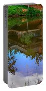 Reflection Of House On Water Portable Battery Charger