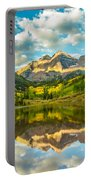 Reflection Of Maroon Bells Portable Battery Charger