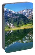 Reflection Of Mountains In Tern Lake Portable Battery Charger