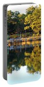 Reflection Of Trees Portable Battery Charger