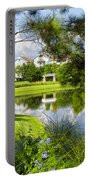Reflections In A Tranquil Pond Portable Battery Charger