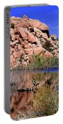 Reflections In Barker Dam By Diana Sainz Portable Battery Charger