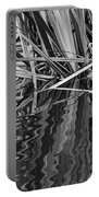 Reflections In Black And White Portable Battery Charger