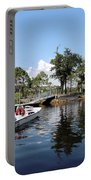 Reflection's Of A Lone Fisherman Portable Battery Charger