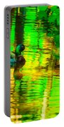 Reflections Of A Mallard Duck Portable Battery Charger