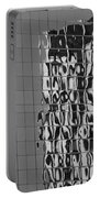 Reflections Of Architecture In Balck And White Portable Battery Charger