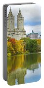Reflections Of Autumn Central Park Lake  Portable Battery Charger