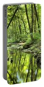 Reflections Of Tranquility Portable Battery Charger by Adam Jewell