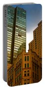Reflections On Buildings Nyc Portable Battery Charger
