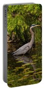Reflective Great Blue Heron Portable Battery Charger