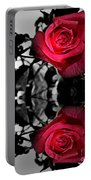 Reflective Red Rose Portable Battery Charger