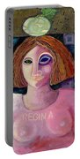 Regina, 2004 Acrylic & Metal Leaf On Canvas Portable Battery Charger
