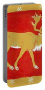 Reindeer Portable Battery Charger by George Adamson