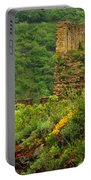 Reinfels Castle Ruins And Wildflowers In The Rhine River Valley 1 Portable Battery Charger
