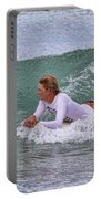 Relaxing In The Surf Portable Battery Charger