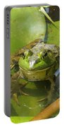 Relaxing On A Lily Pad  Portable Battery Charger