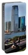 Relaxing Weekend On New York Harbor Portable Battery Charger