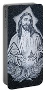 Religious Icons In Spanish Cemetery Portable Battery Charger