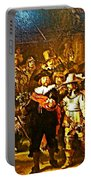Rembrandt Painting Covered A Wall In Rijksmuseum In Amsterdam-netherlands Portable Battery Charger