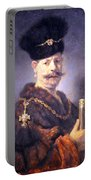 Rembrandt's A Polish Nobleman Portable Battery Charger