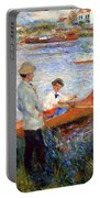 Renoir's Oarsmen At Chatou Portable Battery Charger